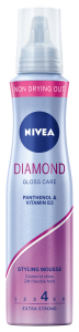 NIVEA STYLING MOUSSE DIAMOND GLOSS CARE PIANKA DO WŁOSÓW  EXTRA STRONG 4, 150 ML