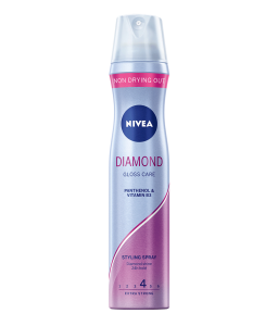 NIVEA STYLING SPRAY DIAMOND GLOSS CARE LAKIER DO WŁOSÓW EXTRA STRONG 4,250 ML